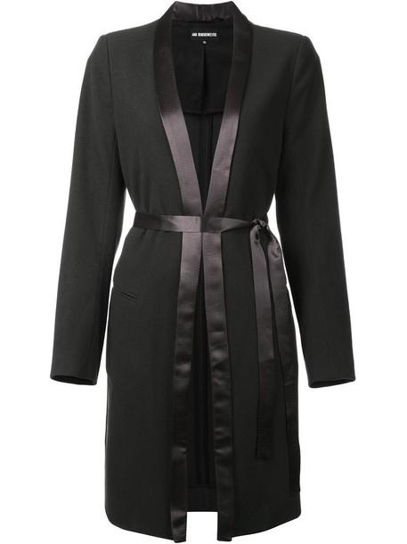 ANN DEMEULEMEESTER coat women black wool