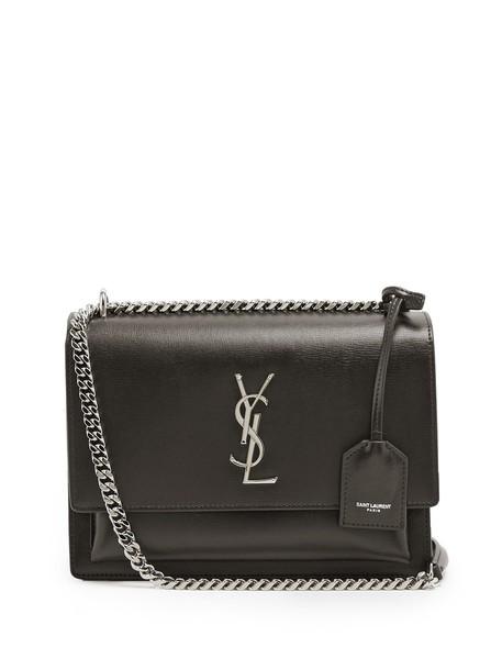 Saint Laurent cross bag leather black