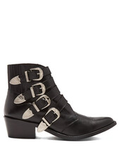 leather ankle boots,ankle boots,leather,black,shoes