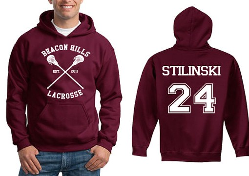 Beacon Hills Lacrosse Stilinski Mens and Girls Hoodies Red maroon size S to XXXL Unisex adult - Veroattack.com