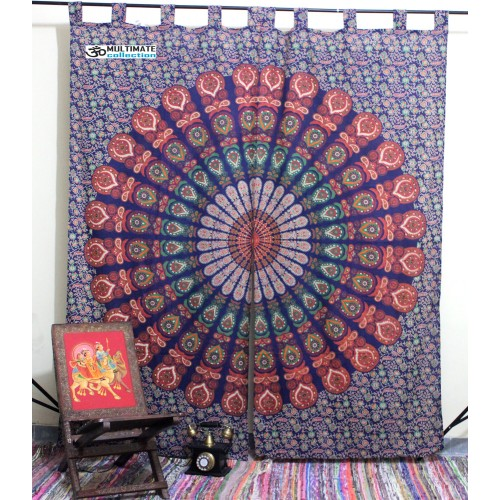 Psychedelic Window Tapestry Curtain Bohemian Curtain