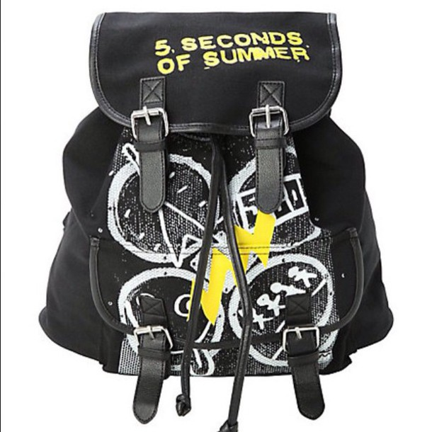 5 seconds of summer backpack bag band merch hottopic