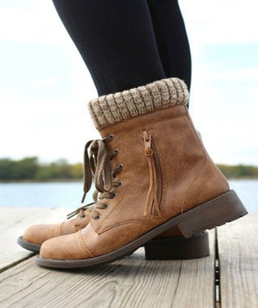 shoes, combat boots, brown, winter outfits, fall outfits ...