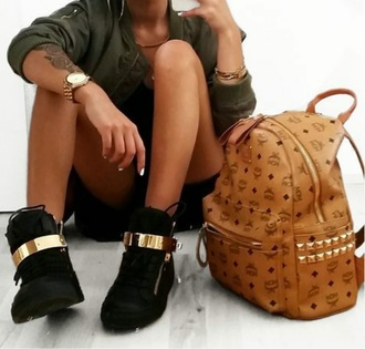 bag streetwear streetstyle gold black brown shoes style street urban fashion outfit tumblr outfit instagram dope