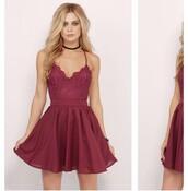 dress,burgundy dress,party dress,mini dress,jewels,absolutemarket,black choker,choker necklace,jewelry,jewel cult