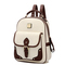 Opentip.com: toptie pu leather chic preppy backpack with internal organizer, flap exterior pocket
