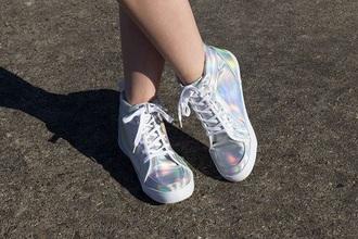 shoes style kawaii platform holographic