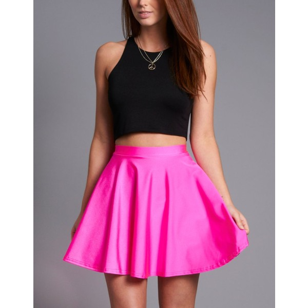 Ribbon Disco Skater Skirt - Polyvore