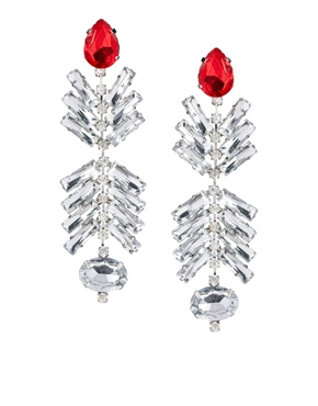 ASOS | ASOS Ruby Vine Earrings at ASOS
