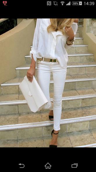 belt blouse white blouse white chiffon blouse