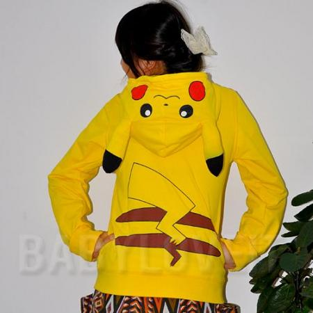 Japan Pokemon Pikachu Ears Face Tail Zip Hoodie Hoody Sweatshirt Costume C1004 | eBay & Japan Pokemon Pikachu Ears Face Tail Zip Hoodie Hoody Sweatshirt ...