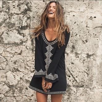 dress embroidered mini dress little black dress rocky barnes