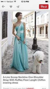 dress,long prom dress,light blue