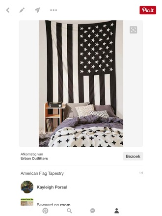 home accessory black and white american flag vintage home decor