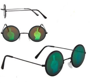 Amazon.com: Middle Finger Hologram Poker Sunglasses: Clothing