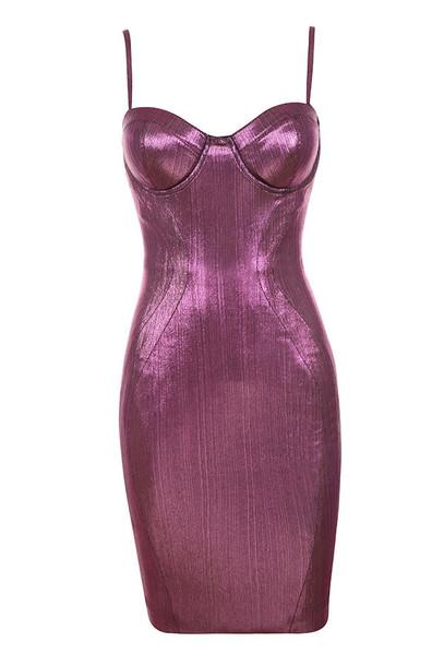 Elegant Metallic Dress