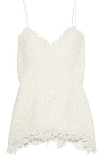 top lace top lace cotton white