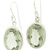 Bezel Set Green Amethyst Earrings