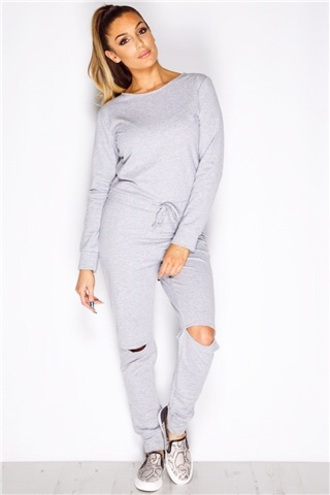 pants outfit outfit idea jumpsuit grey grey sweater comfy comfy pants style fashion