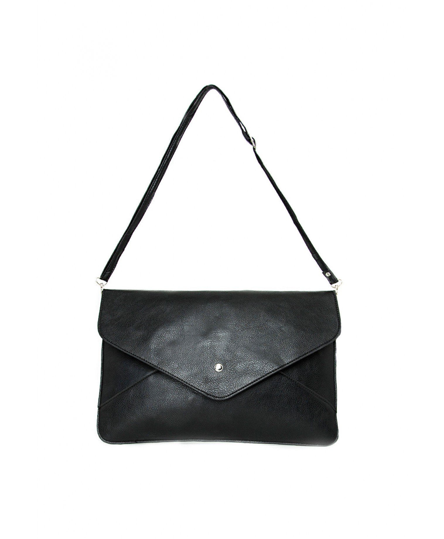 Missguided - Alia Oversized Envelope Clutch Bag Black
