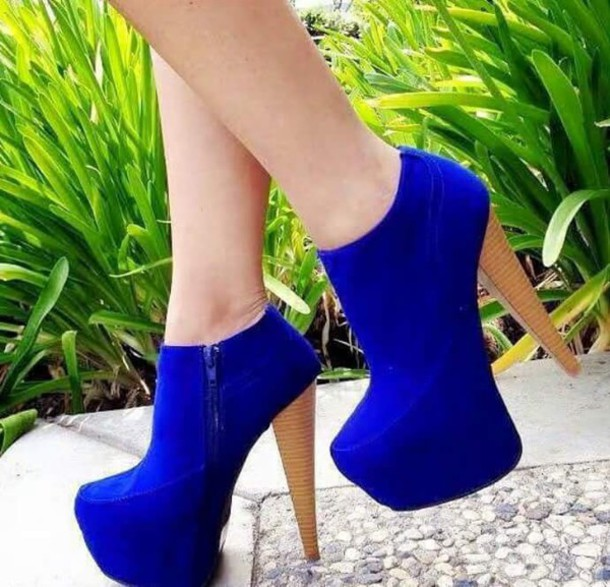 shoes ankle boots blue shoes high heels boots
