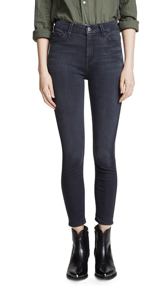 7 For All Mankind The B(air) High Waisted Ankle Skinny Jeans in grey