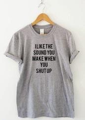 top,t-shirt,graphic tee,grey,tumblr shirt,shirt,grey t-shirt