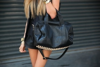 bag black & gold alexander wang fake alexander wang brandy melville rocco