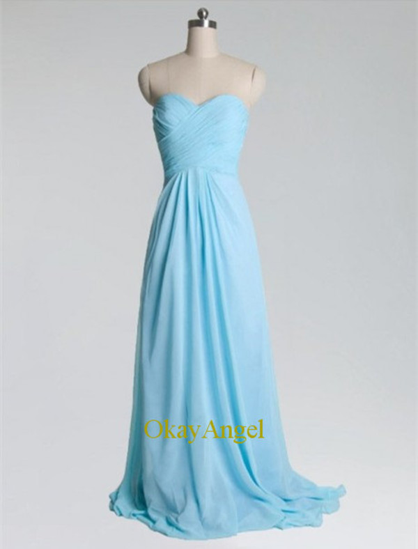 long prom dress prom dress long prom dress sexy bridesmaid dress light blue bridesmaid dress criss-cross bridesmaid dress dress
