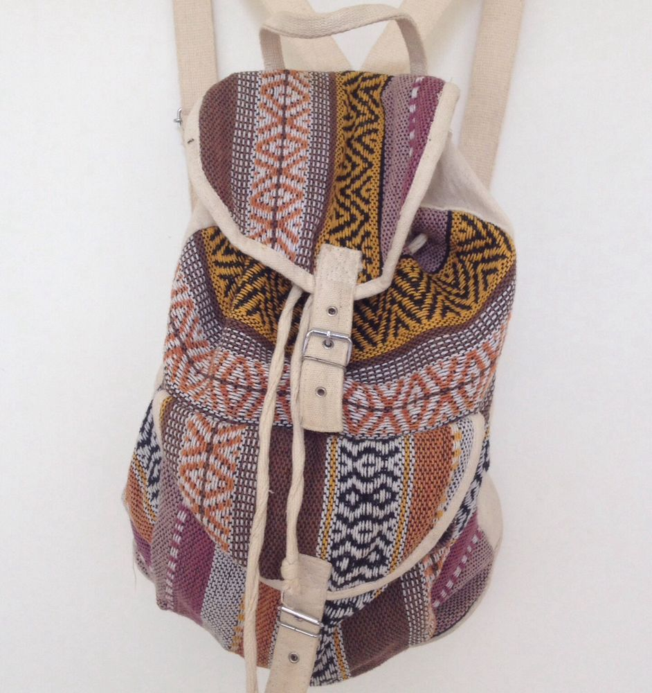 Urban Outfitters Vtg Renewal Retro Boho Festival Indie Aztec Rucksack Backpack