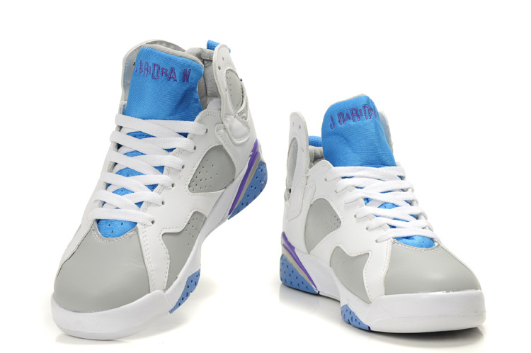 Wholesale Priced & Wholesale Priced Air Jordan 7 White Grey Light Blue Purple 52184-530 Womens Sport Shoes Wholesale Priced & Wholesale Priced Air Jordan 7 White Grey Light Blue Purple 52184-530 Womens Sport Shoes [] - - It's Free! : Red Bottoms,Red Bottom Shoes,Red Sole Shoes