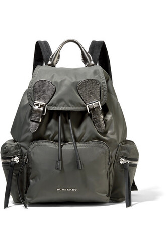 dark backpack leather bag