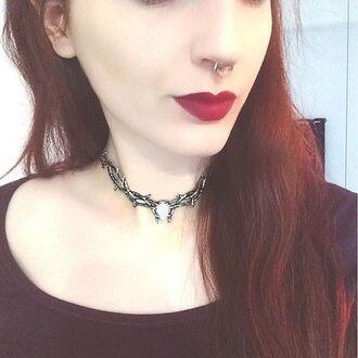 jewels shop dixi choker necklace opal grunge goth boho bohemian necklace
