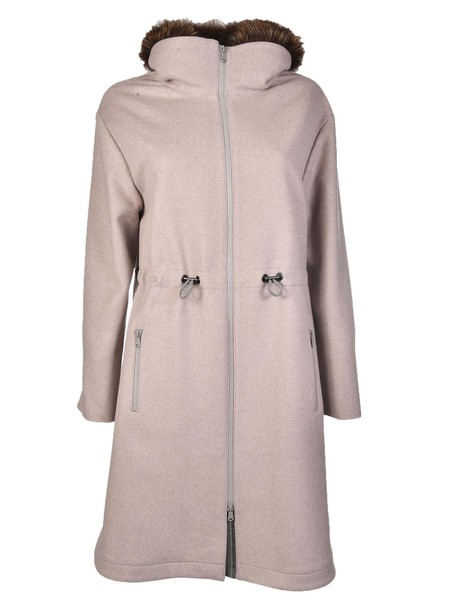 BRUNELLO CUCINELLI coat fur collar coat fur
