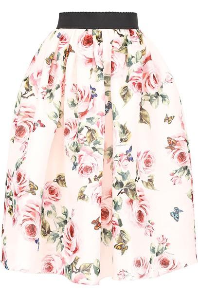Dolce & Gabbana skirt midi skirt midi floral print rose