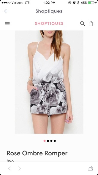 romper ombre dress roses