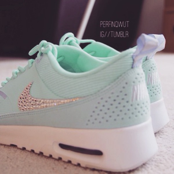 Women s Nike Air Max Thea in Glacier Ice with Swarovski crystal details 8a634ab7e