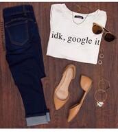 shirt,cute,tumblr,google it,tumblr outfit,white t-shirt