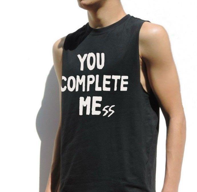 You Complete Mess Me Luke Hemmings Sleeveless Shirt 5 Seconds of Summer 5SOS Top | eBay