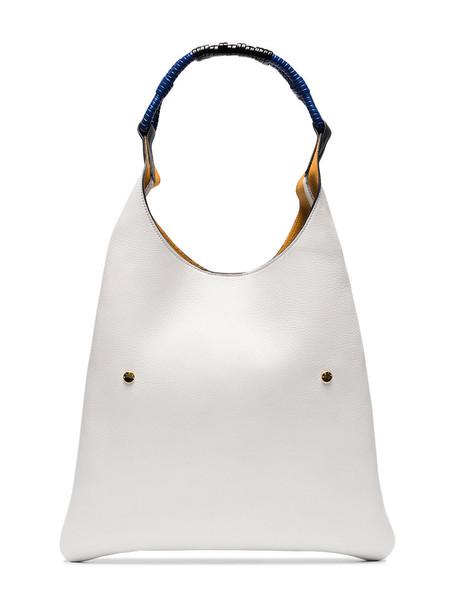 women bag shoulder bag leather white grey
