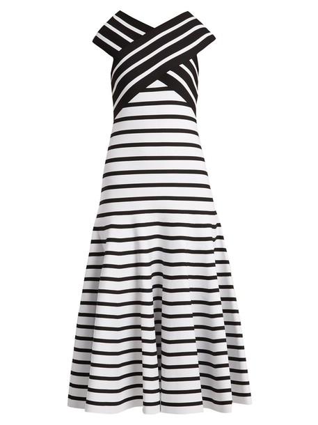 Carolina Herrera dress striped dress white black