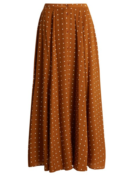 Diane Von Furstenberg skirt print silk brown