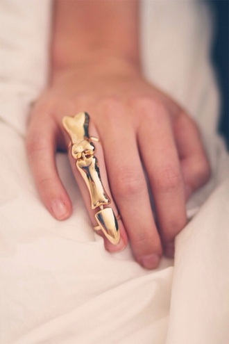 jewels ring gold bones