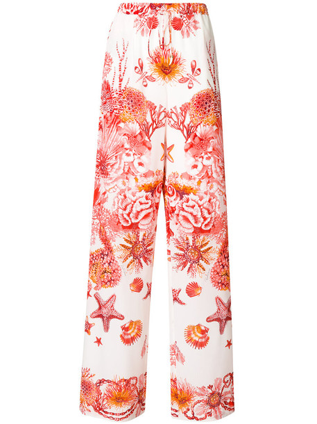 Roberto Cavalli women silk coral red pants