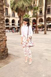 the cherry blossom girl,shirt,bag,shoes,pants
