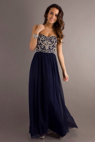 dress blue diamonds formal