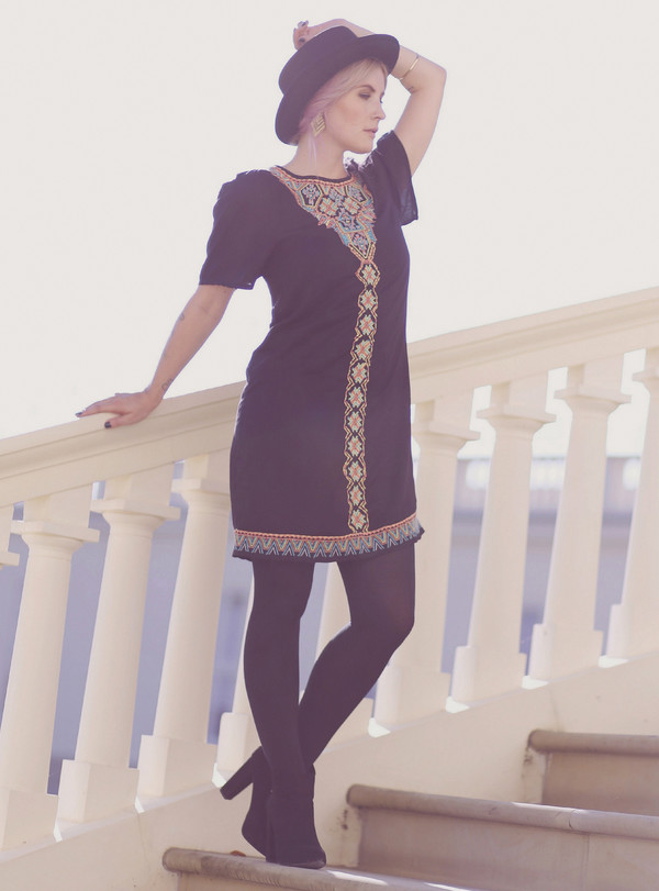 like a riot blogger jewels ethnic dress black dress