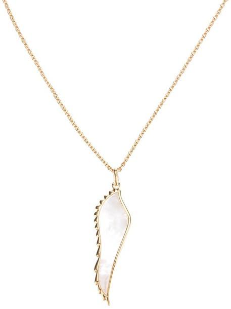 women necklace pendant gold yellow grey metallic jewels