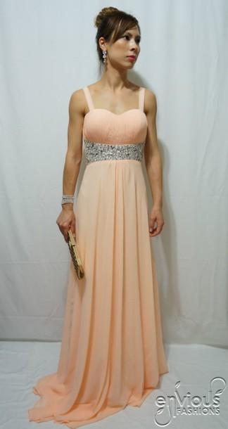 Peach Evening Dresses