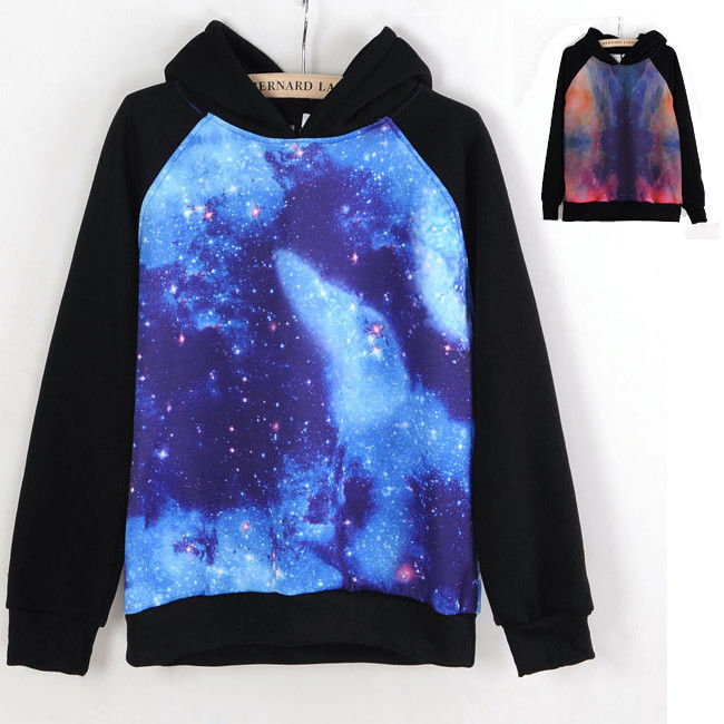Unisex Galaxy Comic Stars Astronomy Print Sweater Top Shirt Jumper Hoodie Lovers | eBay